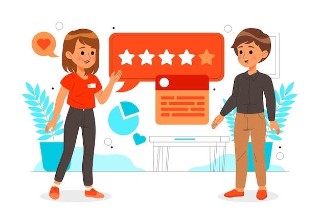 Conceito de feedback plano ilustrado