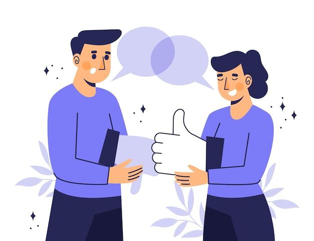 Conceito de feedback plano orgânico ilustrado