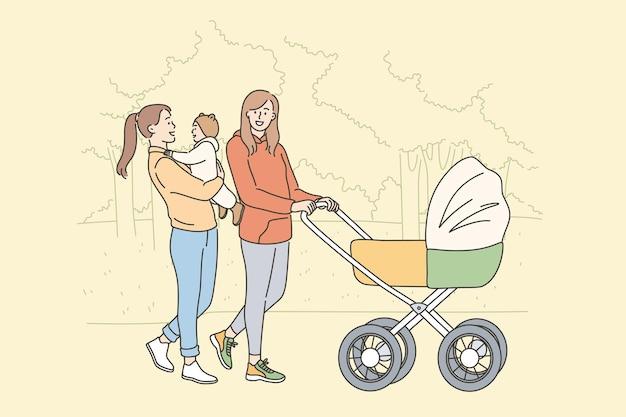 Conceito de felicidade na maternidade e maternidade