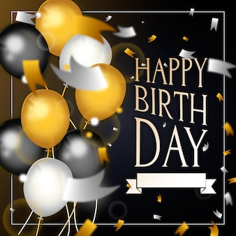 Conceito de feliz aniversário