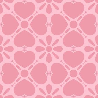 Conceito de feliz dia dos namorados. padrões sem emenda com corações.