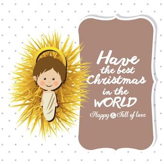 Conceito de feliz Natal com design de ícones de decoração