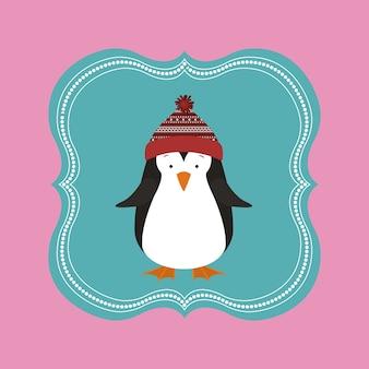 Conceito de feliz natal com ícones de decoração