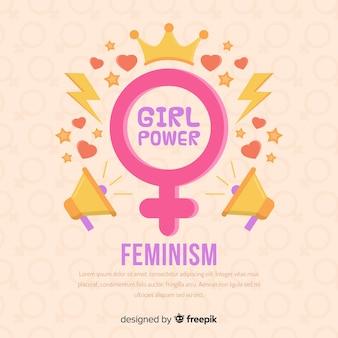 Conceito de feminismo moderno com design plano