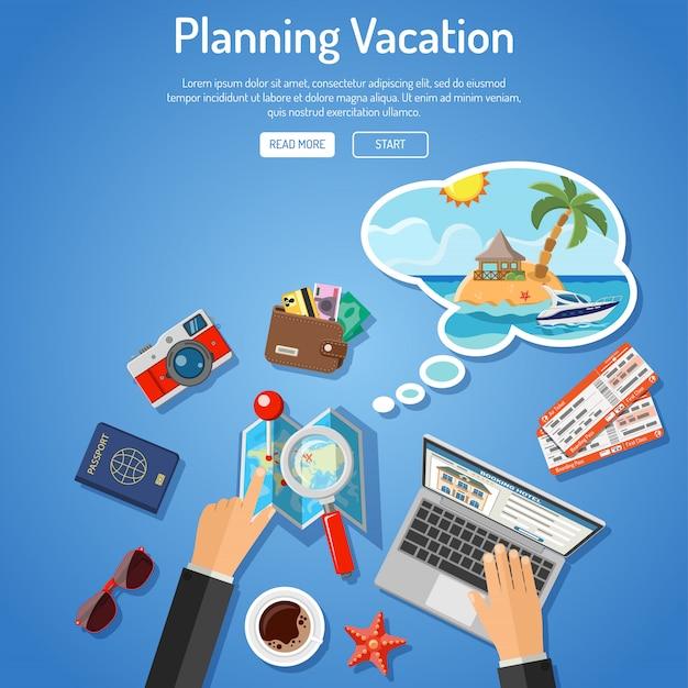 Conceito de férias de planejamento