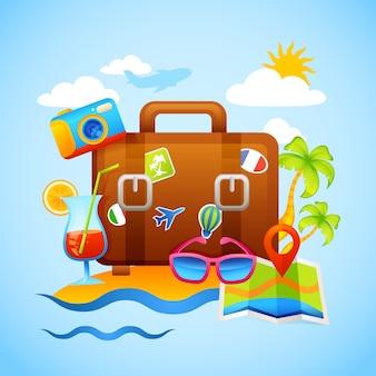 Conceito de férias e turismo