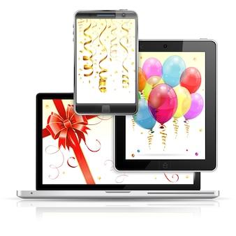Conceito de férias em plataformas digitais