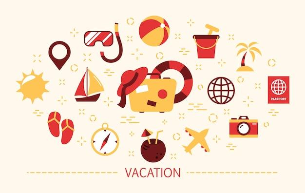 Conceito de férias. ideia de viagem e jornada de verão