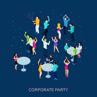 Conceito de festa corporativa