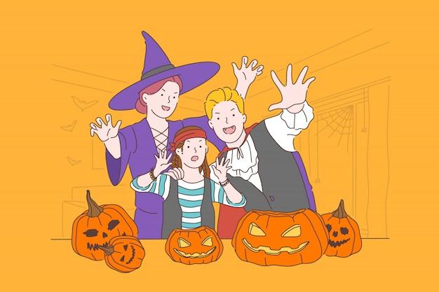 Conceito de festa de halloween.