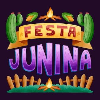 Conceito de festa junina em aquarela