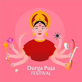 Conceito de festival de puja