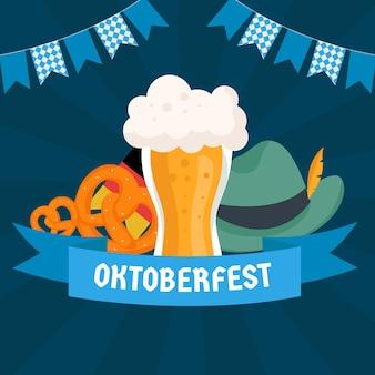 Conceito de festival plana oktoberfest