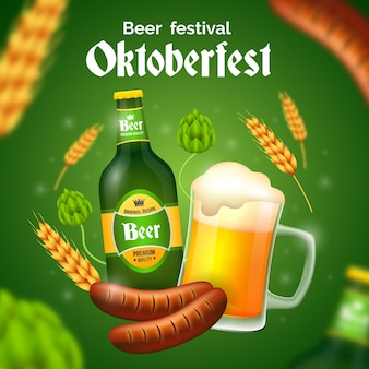 Conceito de festival realista da oktoberfest