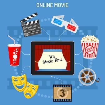 Conceito de filme on-line