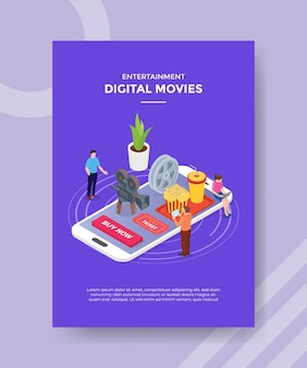 Conceito de filmes digitais