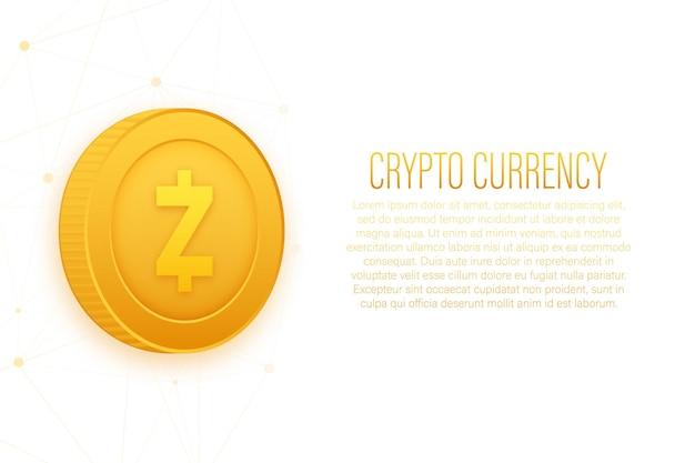 Conceito de financiamento de moeda criptográfica z cash exchange tecnologia papel de parede