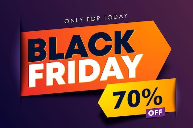 Conceito de fita de seta moderna de design de venda de sexta-feira negra