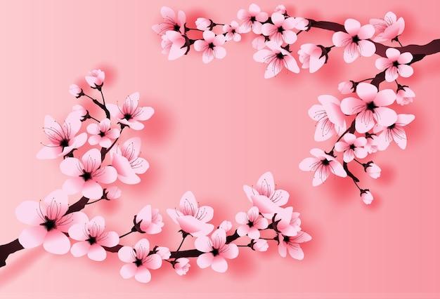 Conceito de flor de cerejeira de temporada de primavera