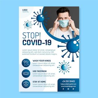 Conceito de folheto informativo de coronavírus