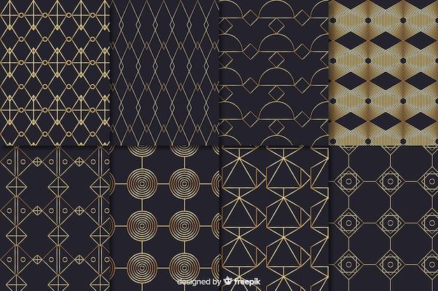 Conceito de formas de coleção de padrão de luxo
