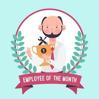 Conceito de funcionário do mês