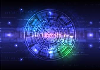 Conceito de fundo abstrato de tecnologia digital