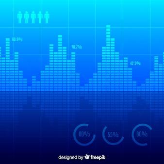 Conceito de fundo abstrato e criativo grande volume de dados