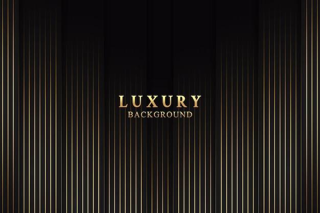Conceito de fundo abstrato elegante e luxuoso com textura preta e dourada
