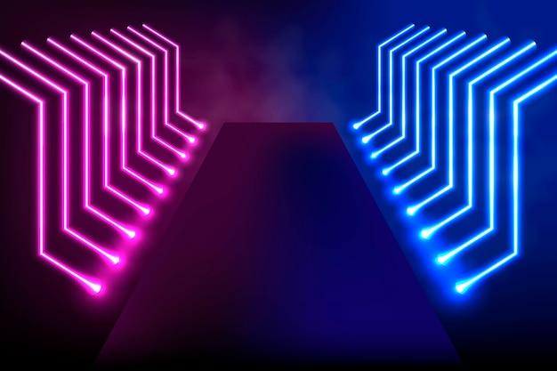 Conceito de fundo abstrato neon lights