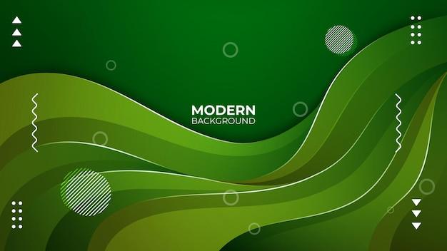 Conceito de fundo abstrato verde moderno