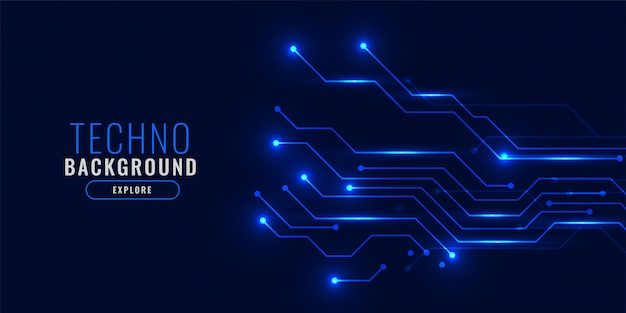 Conceito de fundo azul brilhante tecnologia
