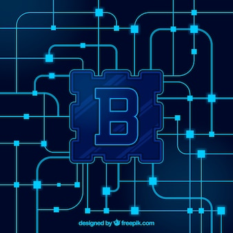 Conceito de fundo blockchain