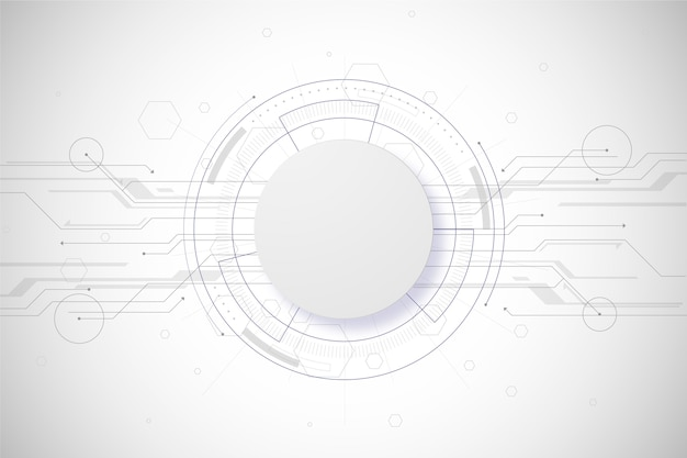 Conceito de fundo branco tecnologia