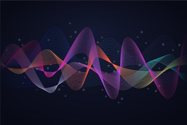 Conceito de fundo colorido onda equalizador