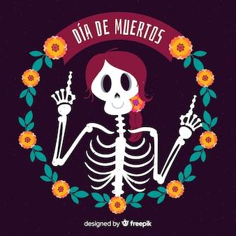 Conceito de fundo criativo dia de muertos