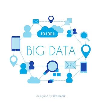 Conceito de fundo criativo grande volume de dados