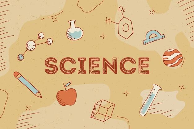 Conceito de fundo de ciência vintage