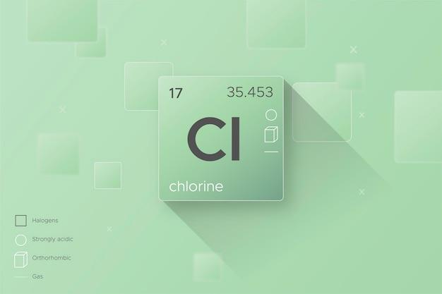 Conceito de fundo de cloro