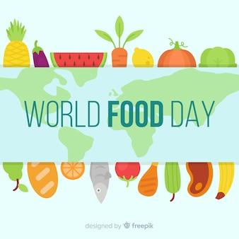 Conceito de fundo de dia mundial da comida