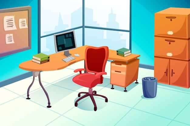 Conceito de fundo de escritório