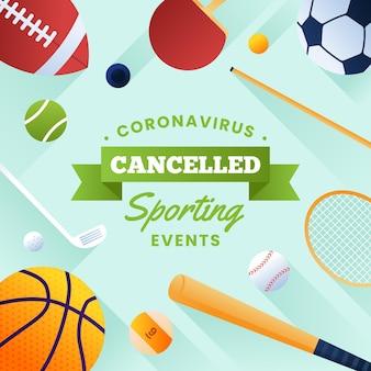 Conceito de fundo de eventos desportivos cancelado