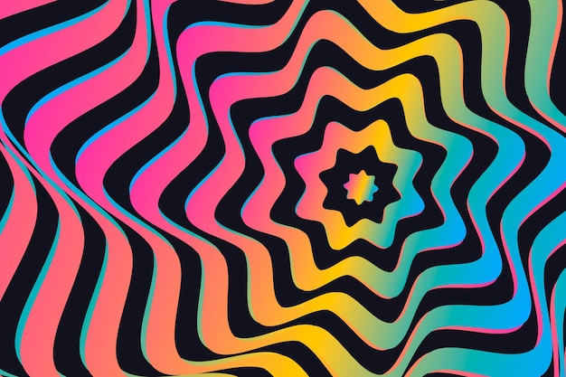 Conceito de fundo de ilusão de ótica psicodélico