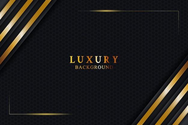 Conceito de fundo de luxo elegante com textura preta e dourada