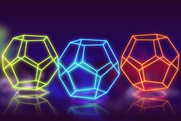 Conceito de fundo de luzes de néon