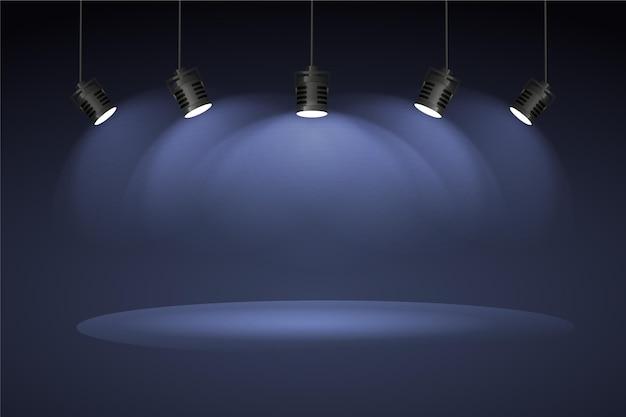 Conceito de fundo de luzes do ponto