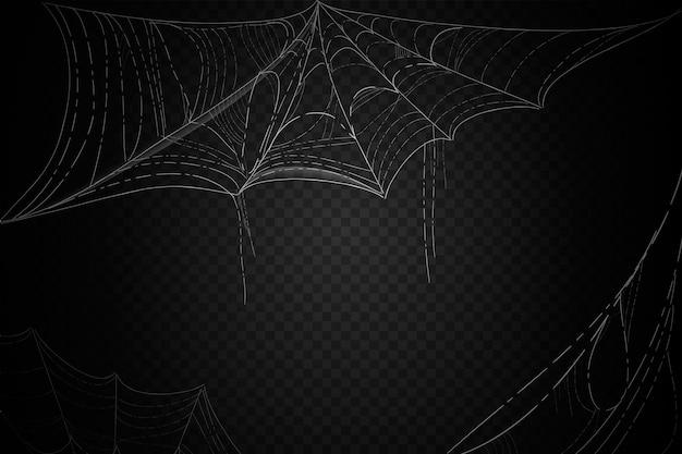 Conceito de fundo de teia de aranha de halloween