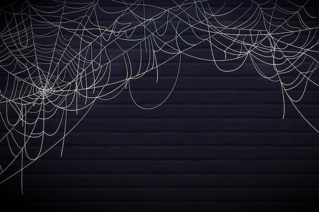 Conceito de fundo de teia de aranha feliz do dia das bruxas