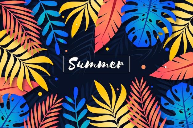 Conceito de fundo decorativo verão