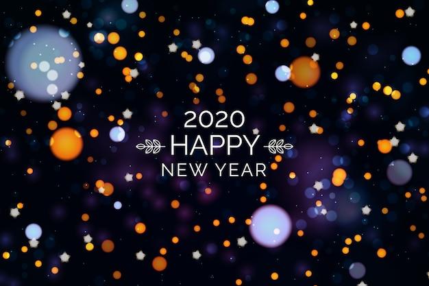 Conceito de fundo desfocado ano novo 2020